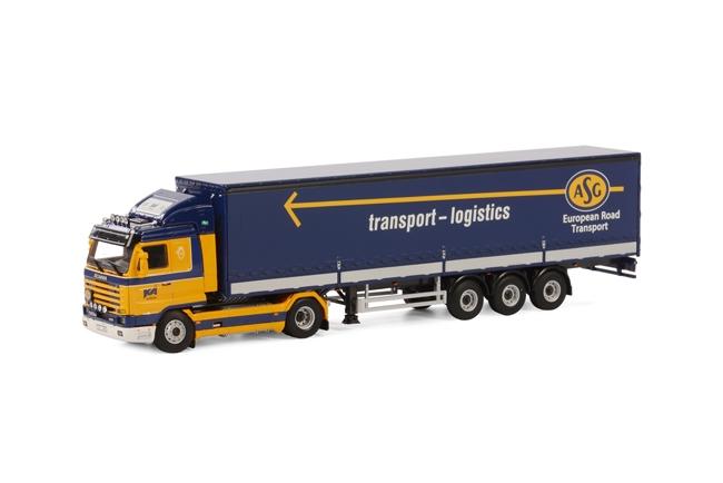 KA Klippan Scania R113/R143 Schuifzeilen Oplegger 3 as