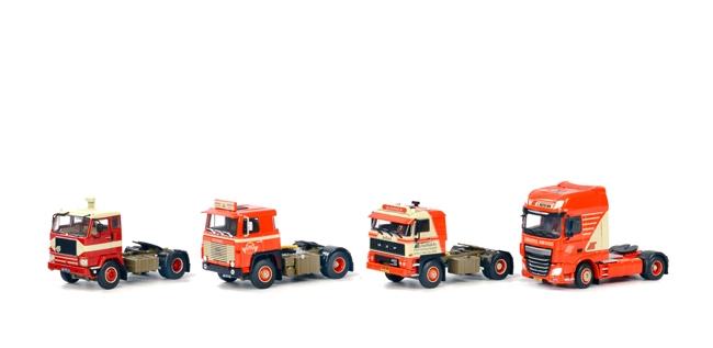 WSI Model WSI Model Heebink box with 4 Trucks, DAF 2800- DAF XF SSC- Scania 1- Volvo F88