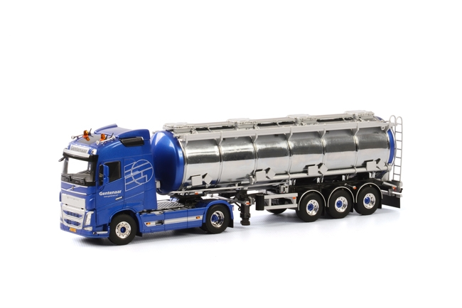 WSI Model Gentenaar Transport Volvo FH4 Globetrotter Tank Oplegger 3 as