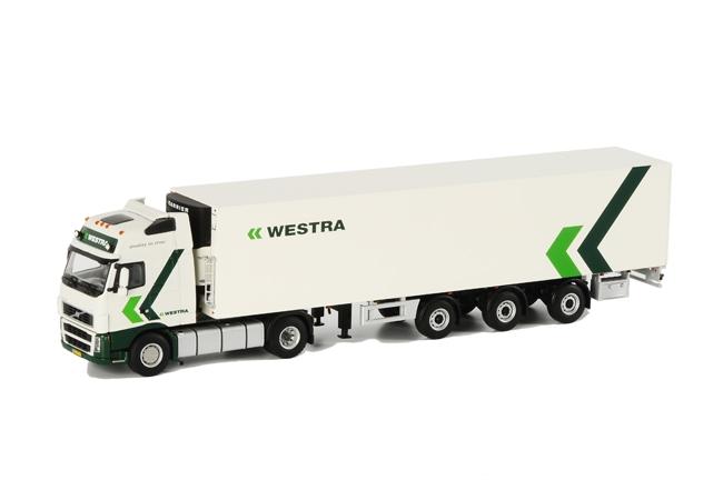 WSI Model WSI Model Westra Transport Volvo FH2 Globetrotter XL Koel Oplegger Carrier 3 as