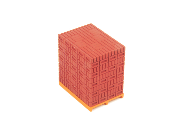 WSI Model Stenen op pallet rood