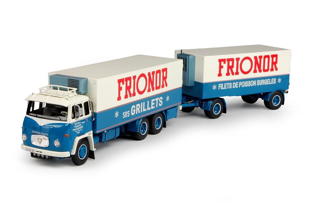 WSI Model Sties Frionor Scania LB motorwagen met aanhanger