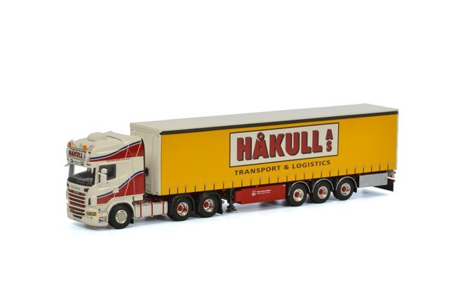 Hakull Scania R Topline schuifzeilen oplegger (3as) van WSI Models.