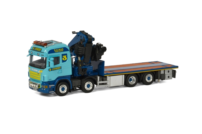 Jinert Scania R Highline Rigid with truck mounted crane and Jib van WSi Models.