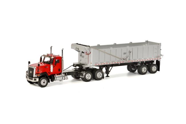 USA Premium Line CT680 6x4 Red DUMP trailer