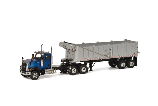 USA Premium Line CT680 6x4 Blue DUMP Trailer, van WSI Models