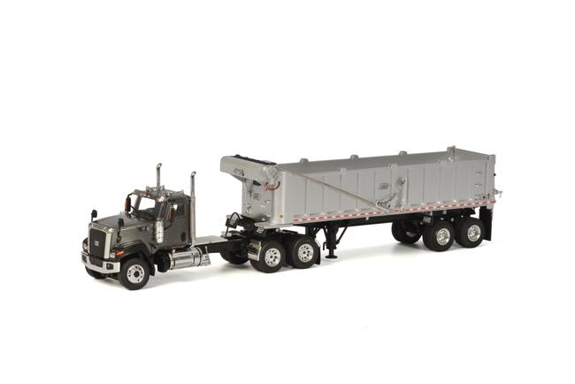USA Premium Line CT680 6x4 Grey DUMP Trailer, van WSI Models