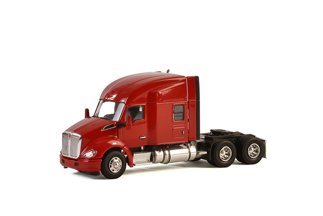 USA Basic Line KENWORTH T680 6X4 RED , Van WSI Models
