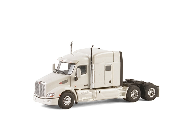 USA Basic Line PETERBILT 579 6x4 WHITE , Van WSI Models