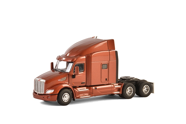 USA Basic Line PETERBILT 579 6x4 BROWN METALLIC , Van WSI Models