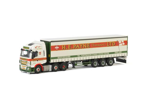 H.E. Payne IVECO STRALIS 6X2 TWIN STEER + TAUTLINER TRAILER - 3 AXLE , Van WSI Models