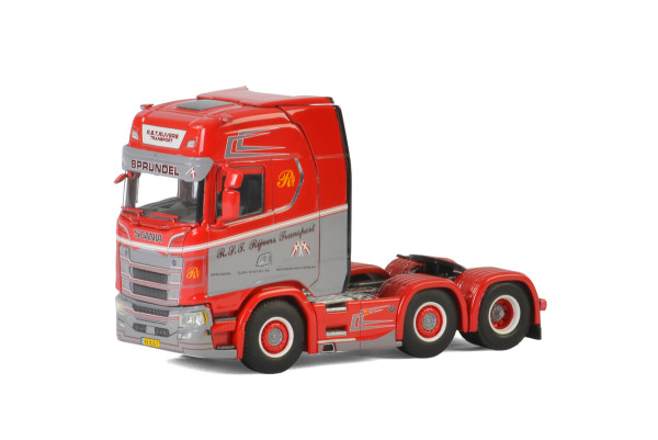 R.S.T. Rijver Transport SCANIA S HIGHLINE I CS20H 6x2 TWIN STEER , Van WSI Models