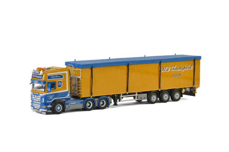 KD Transport SCANIA R6 TOPLINE 6x2 TAG AXLE , Van WSI Models