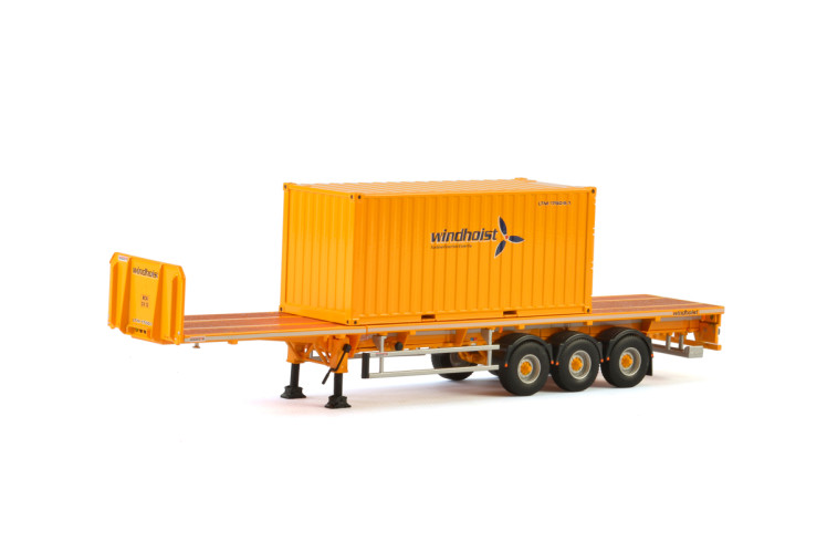 Windhoist FLATBED TRAILER - 3 AXLE + 20 FT CONTAINER Models