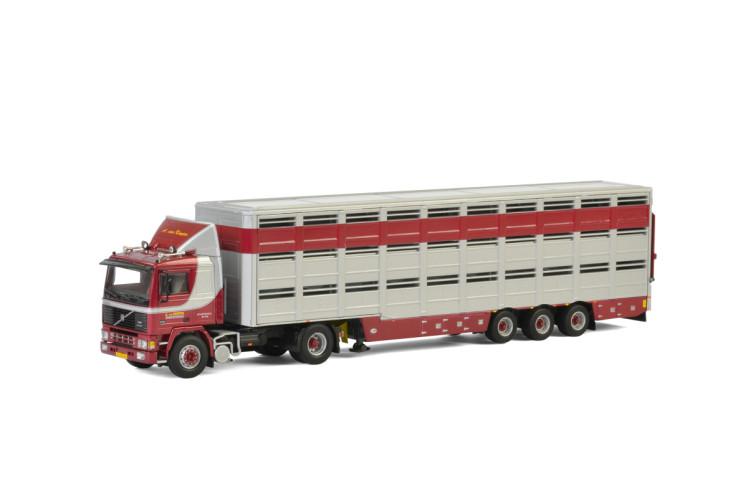 A. van Kempen VOLVO F12 4x2 LIVESTOCK TRAILER - 3 AXLE , Van WSI Models