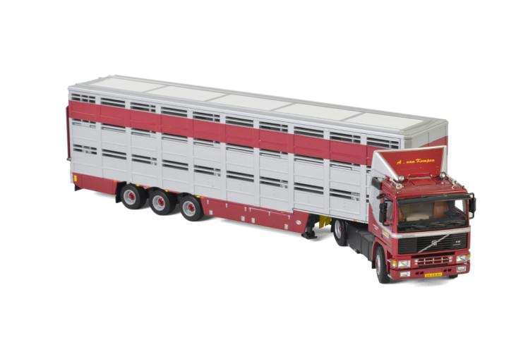 A. van Kempen VOLVO F12 4×2 LIVESTOCK TRAILER – 3 AXLE , Van WSI Models