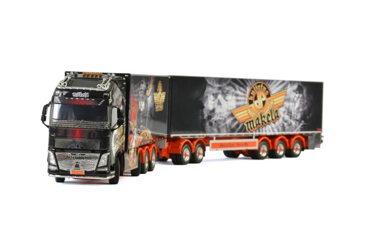 Kuljetus JP Mäkelä Oy VOLVO FH4 GLOBETROTTER XL 8x4 , Van WSI Models