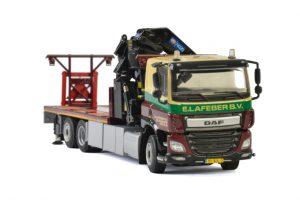 E. Lafeber DAF CF SLEEPER CAB 6×2 TAG AXLE RIGED FLATBED PALFINGER 7800.2 , Van WSI Models