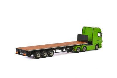 Bring SCANIA S HIGHLINE CS20H 6X2 TAG AXLE FLAT BED TRAILER – 3 AXLE , Van WSI Models