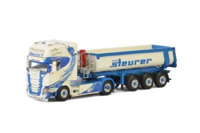 Steurer SCANIA R5 TOPLINE 4X2 HALF PIPE TIPPER TRAILER – 3 AXLE , Van WSI Models