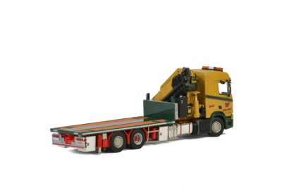 Wiklunds Akeri Ab SCANIA R NORMAL CR20N 6×2 TAG AXLE RIGED TRUCK FLATBED , Van WSI Models