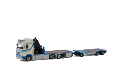 Bremer SCANIA S NORMAL CS20N RIGED FLATBED + PALFINGER 7400.2 , Van WSI Models