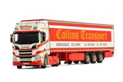 Collins Transport SCANIA R HIGHLINE CR20H CURTAINSIDE TRAILER – 3 AXLE , Van WSI Models