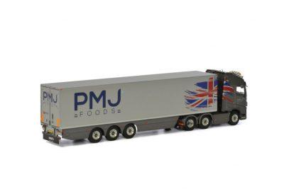 PMJ Foods VOLVO FH 4 GLOBETROTTER XL REEFER TRAILER – 3 AXLE , Van WSI Models