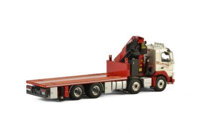 SE Levage VOLVO FMX SLEEPER CAB 8×4 RIGED FLATBED TRUCK + PALFINGER 7800.2 , van WSI Models