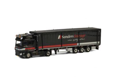 Sanders Fourage DAF XF SUPER SPACE CAB 4×2 VOLUME TRAILER , Van WSI Models