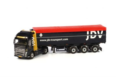 JDV Transport VOLVO FH4 GLOBETROTTER XL 4×2 VOLUME TIP TRAILER – 3 AXLE , Van WSI Models