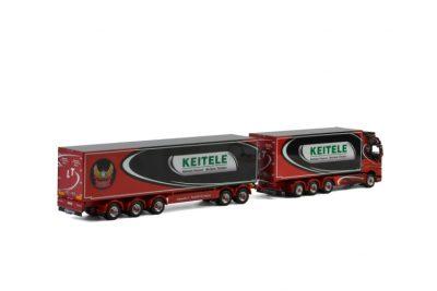 Lasse Tynjälä VOLVO FH4 GLOBETROTTER RIGED TRUCK BOX DRAWBAR BOX , Van WSI Models