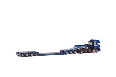 P. Adams VOLVO FH4 GLOBETROTTER XL 8×4 LOWLOADER 4 AXLE + DOLLY 3 AXLE , Van WSI Models