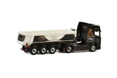 TGC Bern SCANIA R HIGHLINE CR20H 4×2 HALP PIPE TIPPER TRAILER – 3 AXLE , Van WSI Models