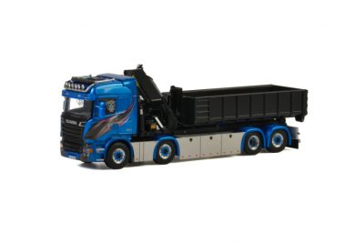 Blue Shine SCANIA STREAMLINE HIGHLINE 8×2 TAG AXLE PALFINGER 7400.2 , Van WSI Models