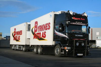 Byrknes Auto As SCANIA R5 TOPLINE 6×2 TAG AXLE RIGED BOX , Van WSI Models