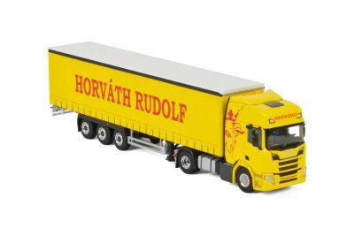 Horväth Rudolf SCANIA R HIGHLINE CR20H 4X2 CURTAINSIDE / TAUTLINER TRAILER – 3 AXLE , Van WSI Models