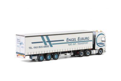 Engel DAF XF SUPER SPACE CAB 6×2 TAG AXLE CURTAINSIDE , Van WSI Models
