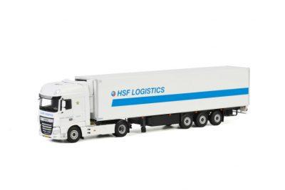 HSF Logistics DAF XF SUPER SPACE CAB MY2017 4×2 REEFER TRAILER – 3 AXLE , Van WSI Models