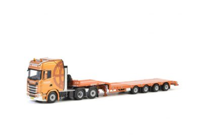 Rensink SCANIA S HIGHLINE CS20H 6×2 TAG AXLE SEMI LOWLOADER – 4 AXLE , Van WSI Models