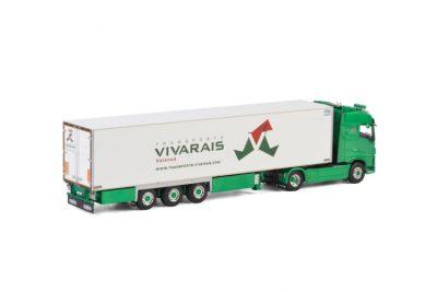 Vivarais VOLVO FH4 GLOBETROTTER 4×2 REEFER TRAILER – 3 AXLE , Van WSI Models