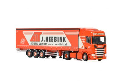 Heebink SCANIA S HIGHLINE CS20H 4×2 CURTAINSIDE / TAUTLINER TRAILER – 3 AXLE , Van WSI Models