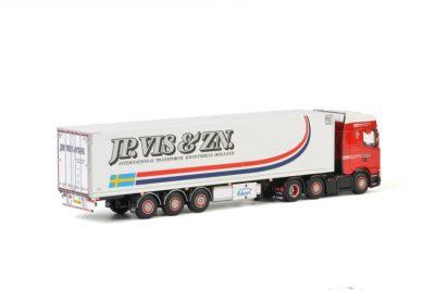 J.P. Vis & Zn SCANIA S HIGHLINE CS20H 6×2 TWIN STEER REEFER TRAILER – 3 AXLE , Van WSI Models