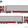 Vaex SCANIA T5 TORPEDO TOPLINE 6×2 TAG AXLE LIVE STOCK TRAILER – 3 AXLE , Van WSI Models