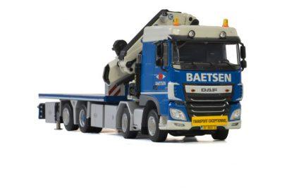 Baetsen DAF XF SPACE CAB 8×2 TAG AXLE + FASSI 1100 , Van WSI Models