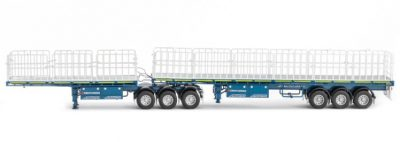Blue/White FREIGHTHER B DOUBLE SET , Van WSI Models