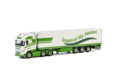 Groda A.G.F. VOLVO FH4 GLOBETROTTER XL 6X2 TWIN STEER REEFER TRAILER – 3 AXLE , Van WSI Models