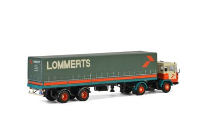 Lommerts DAF 2600 4×2 CLASSIC CURTAINSIDE TRAILER – 2 AXLE , Van WSI Models