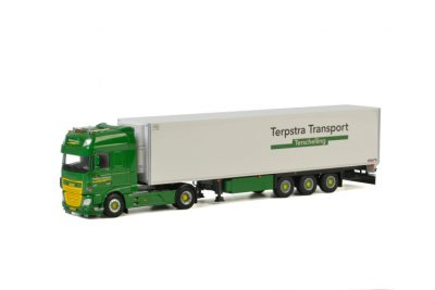 Terpstra DAF XF SUPER SPACE CAB 4×2 REEFER TRAILER – 3 AXLE , Van WSI Models