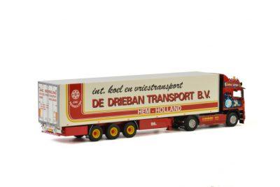 De Drieban Transport VOLVO F12 GLOBETROTTER 4×2 REEFER TRAILER – 3 AXLE , Van WSI Models